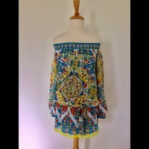 BOHEMIAN GYPSY TOP-WEAR OFF OR ON YOUR SHOULDERS